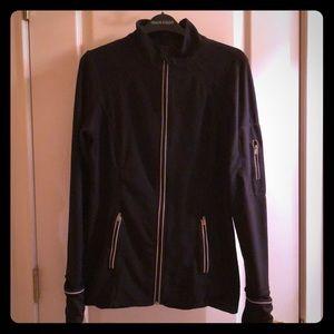 Ladies black athletic jacket
